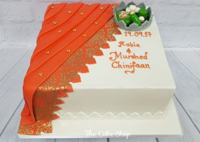Wedding Cake - Saree design