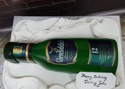 Birthday Cake - Glenfiddich Whisky bottle