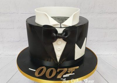 Birthday Cake - 007 tuxedo design