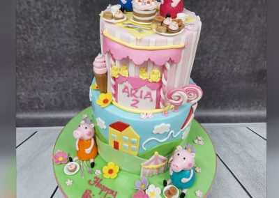 Birthday Cake - Two tier - Peppa Pig