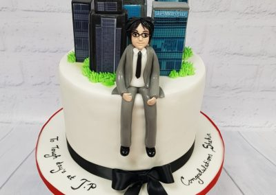 Congratulations on your new job cake - City skyline