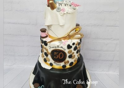 Happy 50th Birthday - Sewing design with accessories