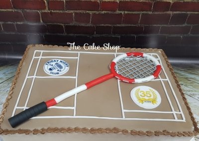 Birthday Cake - Sports - Badminton design