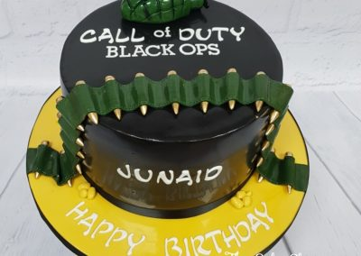 Birthday Cake - Call of Duty design