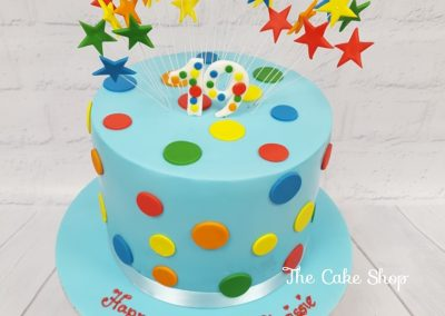 Birthday Cake - Top hat with buttons and stars