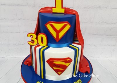 Birthday Cake - Two tier - Superman design