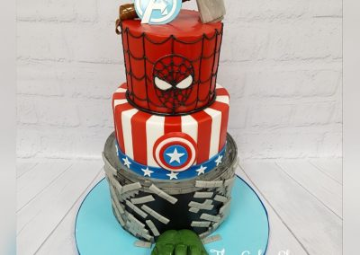 Birthday Cake - 3 Tier - Avengers