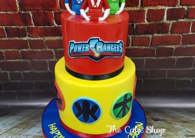Birthday Cake - 2 tier - Power Rangers