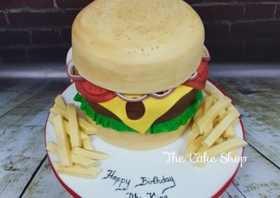 Birthday Cake - Takeaway food - Burger and Chips Design