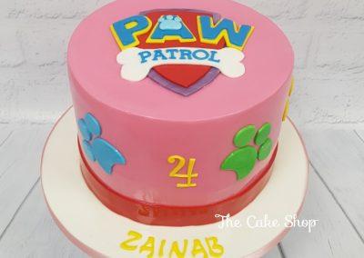 Birthday Cake - Paw Patrol Pink