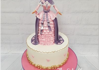 Birthday Cake - Barbie Doll Figure