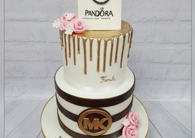 Birthday Cake - 2 tier - Pandora box shopping bag and branding