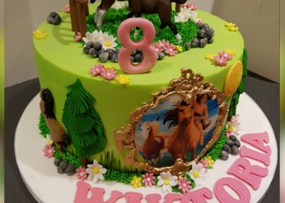 Birthday Cake - Pocahontas and horses
