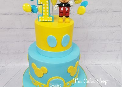 Birthday Cake - 1st Birthday - Micky Mouse with balloons