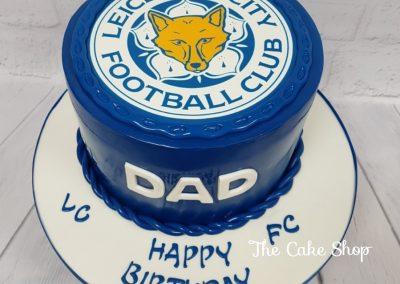 Birthday Cake - LCFC Badge top