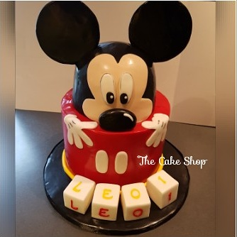 Birthday Cake - Micky Mouse and Dice name