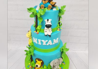Birthday Cake - 3 tier - Jungle characters