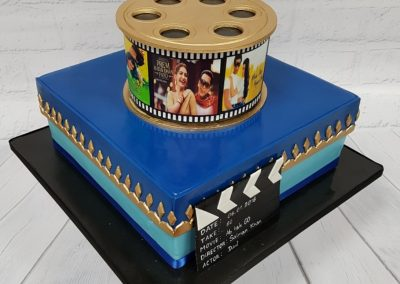 Birthday Cake - Bollywood Film Reel design