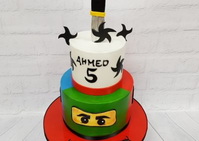 Birthday Cake - Ninja design with ninja stars