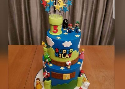 Birthday Cake - Super Mario - 2 tier cake