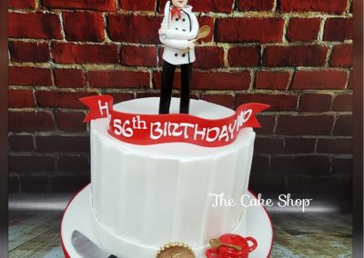 Birthday Cake - Chef custom design with accessories